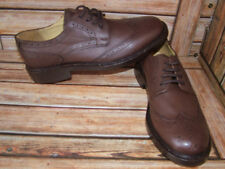 New Mens Church Walk Dark Brown Triple Welt Leather Brogue Shoes Size 9