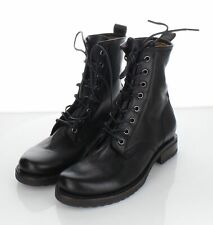 43-70 NEW $278 Women's Sz 7 B Frye Veronica Combat Leather Boots In Black