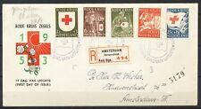 NEDERLAND FDC E-14 - RODE KRUIS 1953 - AANGETEKEND AMSTERDAM, Borgerstraat Ms252