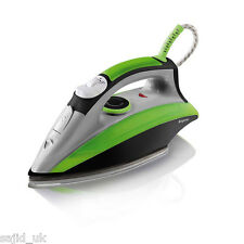 Elgento Steam Iron - Green/Black - 2200W - FREE P&P