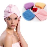 Microfibre After Shower Hair Drying Wrap Towel Turban Hat Cap Turbie Micro Fibre