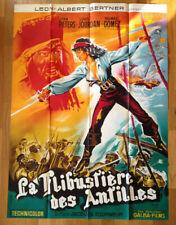 AFFICHE CINEMA film La Flibustiere des Antilles 120x160 Lithographie Belinsky
