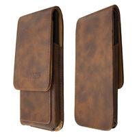 caseroxx Cas de couverture pour Asus ROG Phone en brun fait de cuir veritable