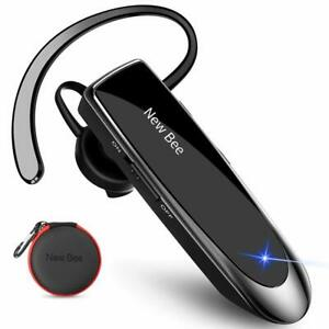 Wireless Bluetooth Headset, Handsfree Earpiece, iPhone Samsung, Noise Cancelling