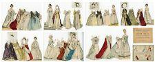 Fine Tucker Stokes Set - Famous Queens and Martha Washington Paper Dolls - 1895