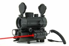 SKS 1x30 Compact Red/Green Dot Sight with Mount, CREE LED Flashlight&Red Laser