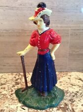 Antique Victorian Woman Golfer Doorstop