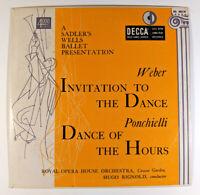"Sadler's Wells Ballet 10"" LP MONO Weber Invitation to the Dance Ponchielli DECCA"