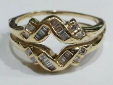 Genuine Diamond Wedding Ring Insert Wrap 14k Gold Size 9.5
