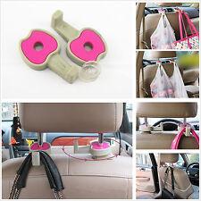 2 x Car Back Seat Headrest Pink Apple Hanger Holder For Bag Clothes Shopping Bag
