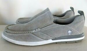 Margaritaville Marina Slip On Canvas Loafers Mens Gray Shoes Size 10.5