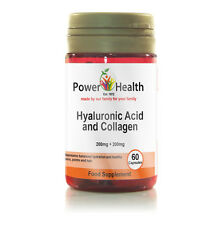 Power Health - Hyaluronic Acid and Collagen - 60 Capsules 200mg