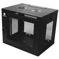 12U Wall Mount Network Locking Server Equipment Data Cabinet Rack Enclosure
