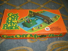 Get Off My Back Game by Schaper the makers of COOTIE very Rare game vintage 1975