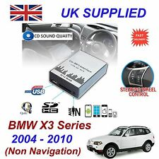PER BMW X3 MP3 USB SD CD INGRESSO AUX adattatore audio digitale CAMBIA CD Modulo