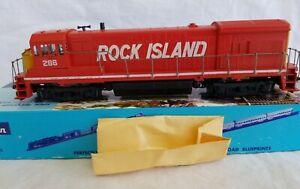 ATHEARN HO BLUE BOX #3481 ROCK ISLAND U33-B No. 286 - POWERED w/ ORIG. BOX  RUNS