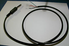 """1/4"""" PLUG AND CORD ASSEMBLY  FOR TELEGRAPH STRAIGHT KEY OR PADDLE"""