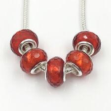 5pcs Shiny silver big hole spacer beads Charm European Bracelet Making