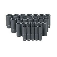 Grey Pneumatic 26 Pc.1/2In Drive 6 Point Metric Deep Master Socket Set Gry1326Md
