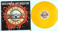 "EX/EX GUNS N' ROSES LIVE AND LET DIE 12"" ORANGE VINYL PIC PICTURE DISC"