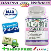 1X Moringa 4:1 Focus Formula 120 Pills Nootropic Brain Booster Supplement Memory