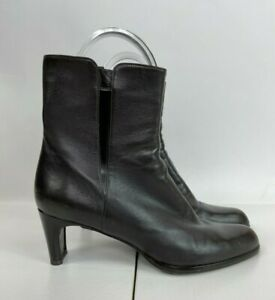 """Stuart Weitzman Brown Leather Ankle Boots with 2.5"""" Heels Size 7"""