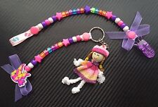 Personalised Dummy Clip And Keyring Pram Changing Bag Charm Christening/ Birth