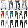 Men's Athletic Gym Compression Tights Camo Dri-fit Running Jogging Long Pants