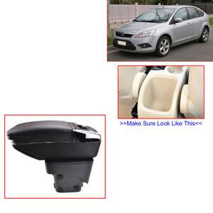 Storage Box Interior Rotatable Armrest For Ford Focus Mk2 05-11 Car Red thread