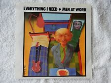 "Men At Work ""Everything I Need/Sail To You"" Picture Sleeve 45 RPM Record"