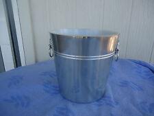 vintage retro nova australia anodised aluminium ice bucket silver lion heads