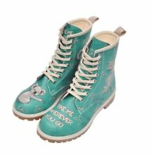 DOGO Women Long Boots, Mid Calf, Vegan, Printed Leather, Breathable, Chic