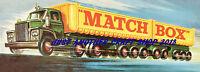 Matchbox K16 Tren Tractor & Doble Camión 1966 Cartel Vintage Shop Expositor
