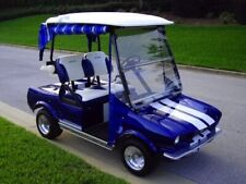 Custom golf cart body kit 1965 muscle car front & rear with lights hood & trunk