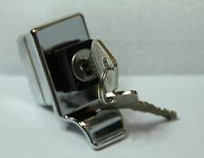 CLASSIC FIAT 500 ENGINE LID BONNET SQUARE HANDLE WITH LOCK CHROMED BRAND NEW