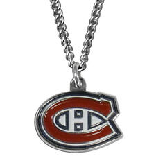 "montreal canadiens licensed nhl hockey charm necklace 22"" chain"