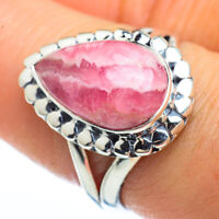 Rhodochrosite 925 Sterling Silver Ring Size 8.5 Ana Co Jewelry R45160F