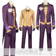 Batman Arkham Asylum Dark Knight Joker Cosplay Costume Halloween Costume