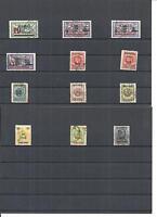Memel, Klaipeda, Litauen 1923, Einzelmarken aus MiNrn: 119 - 233 o, gestempelt o