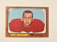 1966 Topps Ed Budde Card #65 EX Chiefs