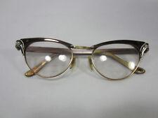 Vintage Pair of Aluminum & 12K GF Ladies Cats Eye Glasses Frames