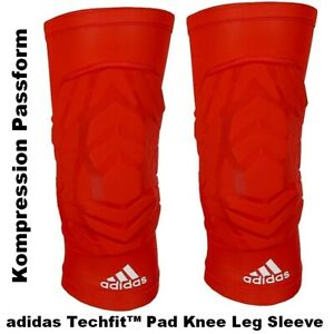 Adidas Techfit Knee Pad Leg Knieschoner Knie-Bandage Knieschützer Basketball rot