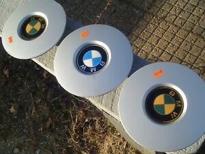THREE VINTAGE  BMW CENTER CAPS HUBCAPS WHEEL COVERS
