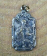 Antique St Jude Thaddeus and Queen of the Rosary Medal Charm.