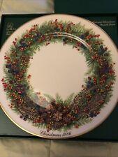 Lenox Colonial Christmas Wreath Plate 1986 New Hampshire Box Coa