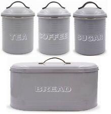 LEONARDO Collezione Grigio Portapane Tè Caffè Zucchero Scatola Controsoffitto Di