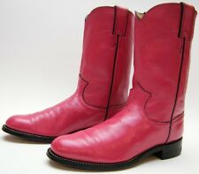 WOMENS JUSTIN L3779 HOT PINK LEATHER ROPER COWBOY WESTERN BOOTS SZ 6.5~1/2 B