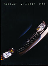 1999 Mercury Villager Original Car Sales Brochure