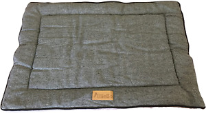 Ellie-Bo Reversible Tweed and Faux Fur Mat Bed for Dog Puppy Cages and Crates