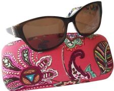 Vera Bradley Marsha Sunglasses Brown Gold with Case 56mm New Authentic